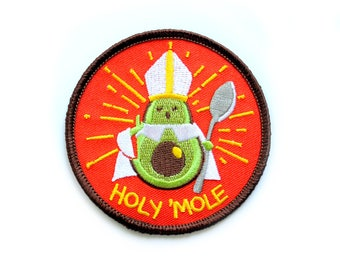 holy 'mole! embroidered patch