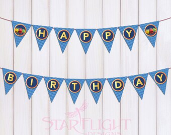 Chuggington Birthday Banner - Printable PDF - Instant Download