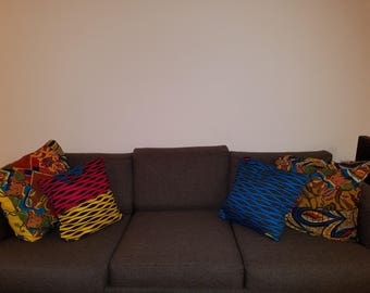 Ankara throw pillow covers / African print throw pillow covers for home decor