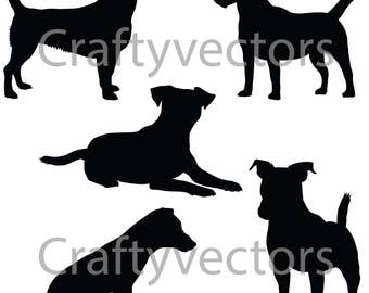 Jack Russell Terrier SVG Silhouettes