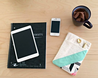 iPad Mini Case / iPad Mini Pocket /iPad Mini Sleeve / iPad Mini Cover / 7 inch Tablet Sleeve / Geometric iPad / Front Pocket / Free Shipping