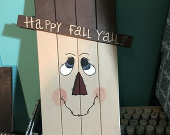 REVERSIBLE Scarecrow/Snowman board