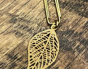 Paperclip Leaf for your Midori/Fauxdori/Filofax/Planner