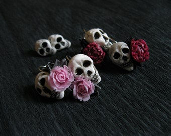 Pastel goth earrings Halloween jewelry Halloween earrings Halloween costume Bone jewelry Scull jewelry Vampire earring Skeleton jewelry