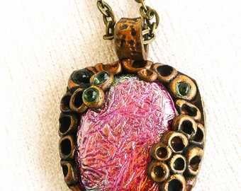 Draconyte and Faux Bronze Pendant