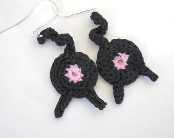 Cat Butt Strut Custom Crochet Earrings
