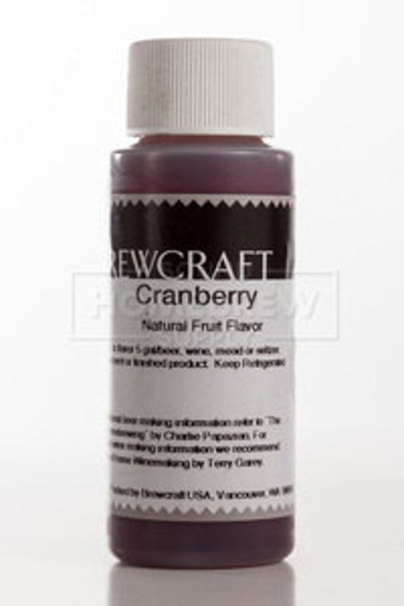 Cranberry  Natural Flavoring For  Home Wine Making Beer Making 2 Ounces