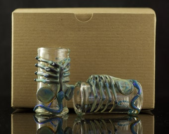 Set of 2 Facehugger Alien Shot Glasses in Your Choice of Color