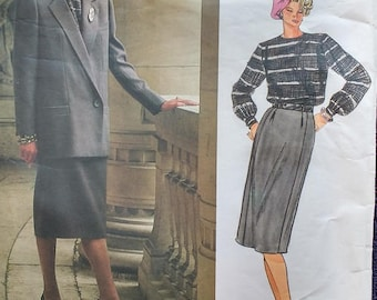 Vogue Paris Original Jacket Skirt Blouse Pattern Christian Dior 1600