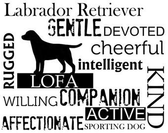 Customized Labrador Retriever Subway Art Wall Decor Labrador Retriever Personalized with Your Lab's Name