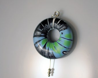 CLEARANCE*****Polymer Clay Air Pendant - WEARABLE ART!!!