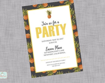 Pineapple Party  Invitation