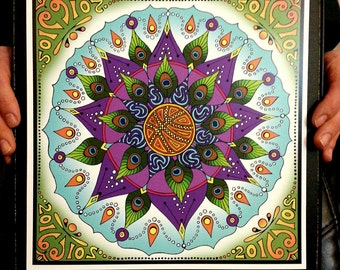 March Madness 2016 Mandala, Small String Cheese Incident Tour Poster 11x11
