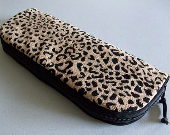 Flat Iron or Curling Iron Zipper Bag - Leopard No. 1 - Two Lengths Available