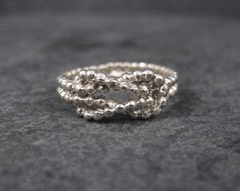 Vintage Sterling Love Knot Ring Size 8