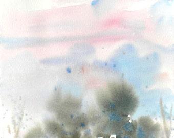 New England Spring-Scape No.95, original watercolor