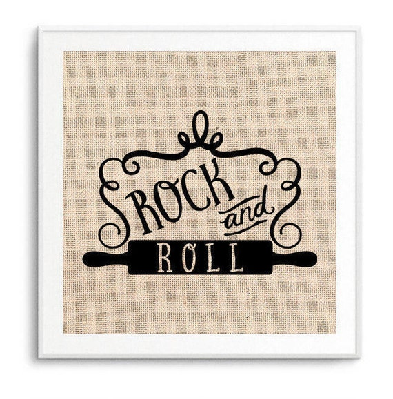 Rock And Roll Rolling Pin Art Kitchen Decor Funny Kitchen