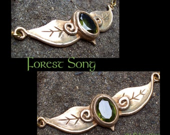 SALE Forest Song Bronze Necklace