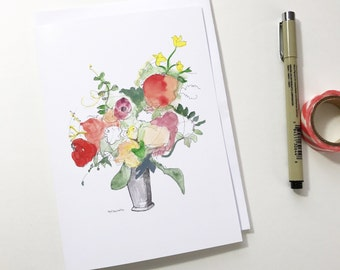 Spring Bouquet, 5x7 card, Ready to Ship greeting card