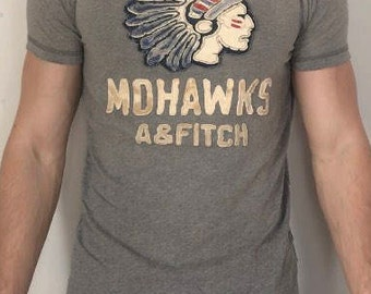 Mens vintage Abercrombie and fitch graphic t shirt