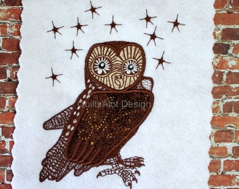 Jet James Owl Applique