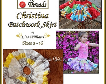 INSTANT DOWNLOAD: Christina Patchwork Skirt - DiY Tutorial PdF eBook Pattern - Sizes 2 to 16