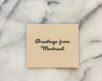 Greetings From Montréal, set of 4 cards with envelopes