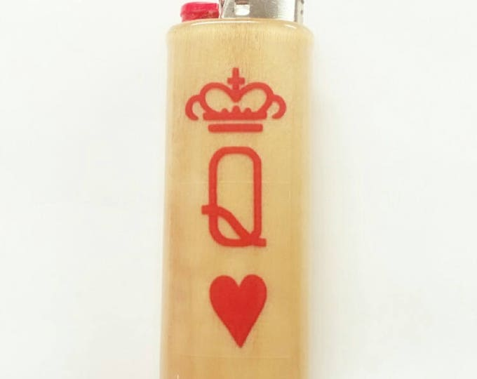 My Queen BIC Lighter Case Holder Sleeve Cover Gift for Her