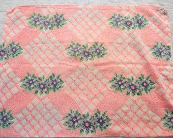 """Sweet Cotton Batiste Pink Floral Print Pillow Cover 17"""" x 21"""""""