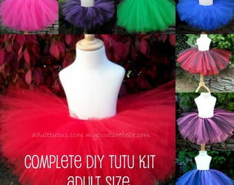 6 ADULT Make a Tutu Kit (No Sew) Choose Your Colors