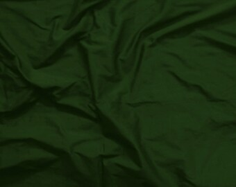 Fat Quarter Silk Fabric - Dark Miltary Green - 100% Pure Silk - Fat Quarter - Sld183
