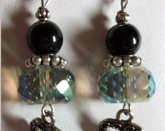 Multi color and black dangle Earrings