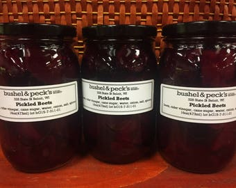B&P's Small Batch Handmade Pickled Beets - Three Jars