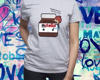 Eat Nutella tshirt/ Nutella shirt/ Want Nutella t shirt/ Womens t shirt/ Women t-shirt/ Chocolate shirt/ Nutella Jar/ Gift for niece/ (B44)