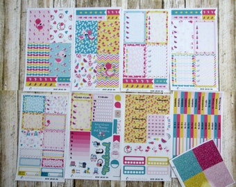 Pink & Fabulous Flamingo Weekly, BIG HAPPY PLANNER, Flamingo Weekly, tropical weekly