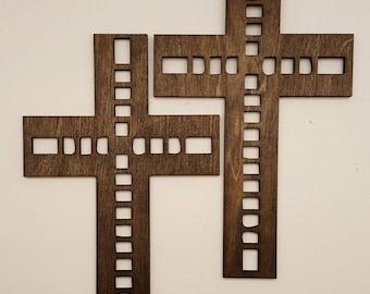 Square laser cut wood cross