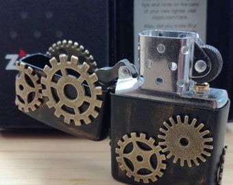 Steampunk, customized zippo lighter