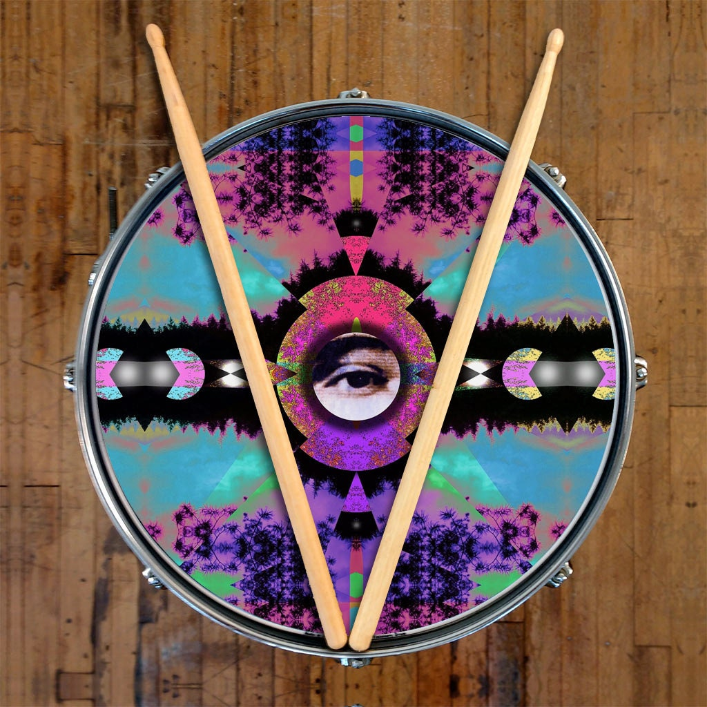 visionary drum skin for bass snare and tom drums eye. Black Bedroom Furniture Sets. Home Design Ideas