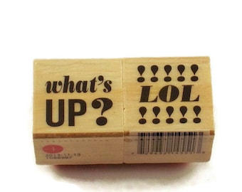 Mini  Rubber Stamp Set  - Whats Up