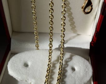 14k yellow solid gold hand made necklace 11.2gr