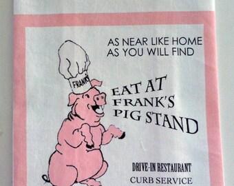 Franks Pig Stand Towel