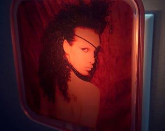 Pete Burns Night Light, 80s, Retro decor, Dead or alive, Music memoriabilia, Wall art, Gift for her, Gift for him, Pop art, Plug in lighting