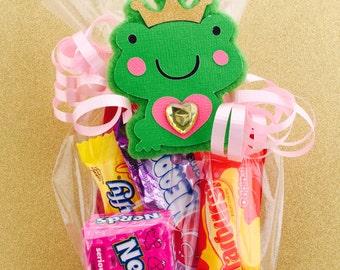 Princess Birthday Party - Princess First Birthday - Princess Baby Shower Favors - Princess Party Favors - Frog Prince Favor Bag Tag