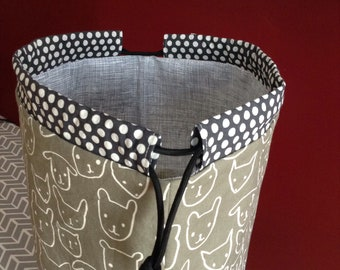 drawstring tote / project bag / drawstring bag