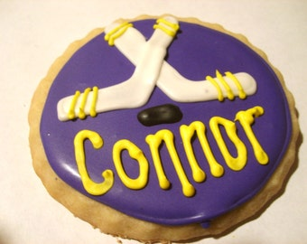 Custom Hockey Cookies (2 dozen)