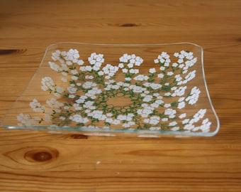 Filigree glass bowl GDR nostalgia
