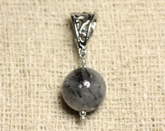 Gemstone - 14mm Tourmalated Quartz pendant