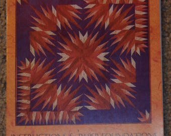 quilted wall hanging pattern, paper pieced quilt pattern, lap quilt pattern, wall quilt pattern, Karen K. Stone pattern