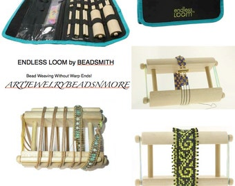 ENDLESS LOOM No Warp Threads! Endless Beading Loom, Wrap Bracelet / Travel Size Beading Loom, looms and jigs, Gifts for her /him, Sale!
