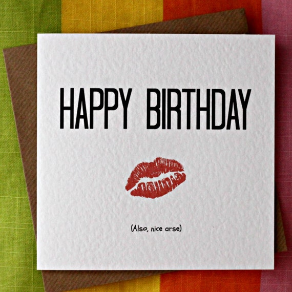 Nice Arse Funny Birthday Card Cheeky Sexy Birthday Card-7256